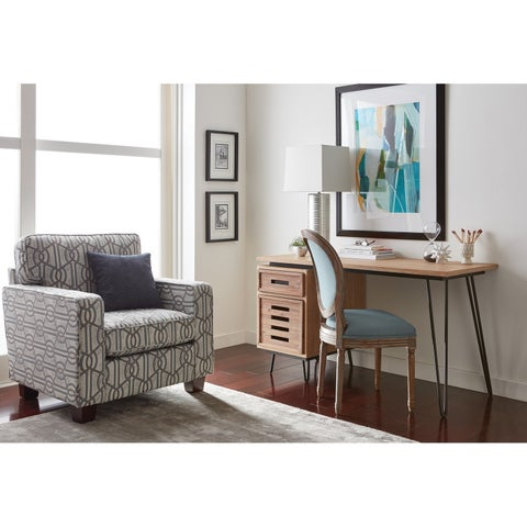 Curia & Co. Starling Modern Home Office Desk in Wire Brush Finish