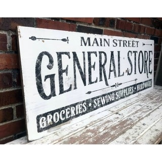 Link to Farmhouse Sign Vintage General Store Design in White Similar Items in Accent Pieces