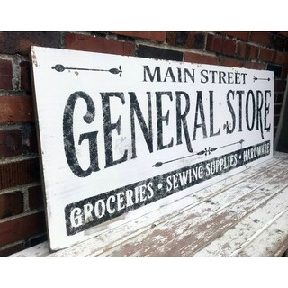 Farmhouse Sign Vintage General Store Design in White