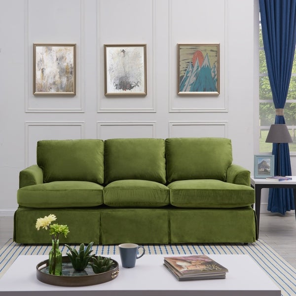 Shop Handy Living Orlando SoFast Kale Green Velvet