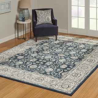 Gertmenian Avenue33 Majestic Croft Denim/Ivory/Beige Olefin Area Rug