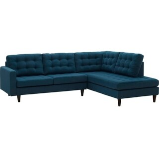 Empress 2 Piece Upholstered Fabric Right Facing Sectional