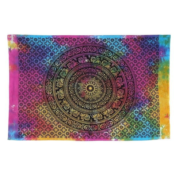 Mandala Tapestry Purple Indian Wall Hanging Hippie Wall Tapestries Ethnic Decor