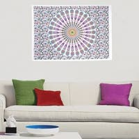 Boho Mandala Printed Multi-Color Poster Wall Hanging Decor Tapestry Throw Bedspread - 30x45 inches