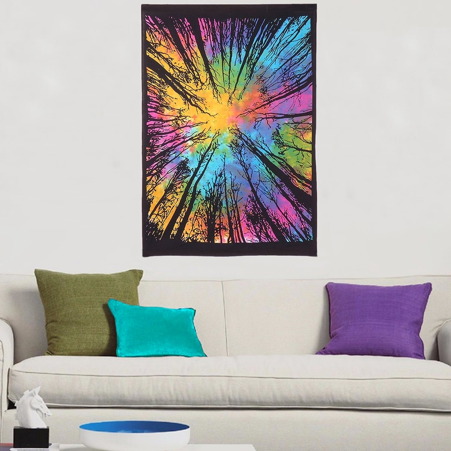 Shop Multi Color Tree Of Life Cotton Wall Hanging Decor Poster Tapestry Throw 30x45 Inches Overstock 21731047