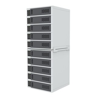 Offex 10 Bay Mobile Electronic Devices Charging Station Locker with Digital Key Lock System, Gray