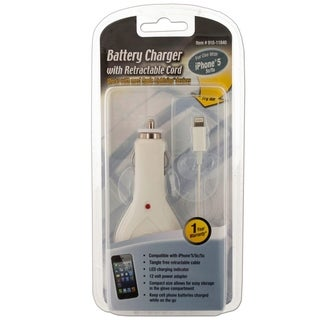 White Lightning Retractable Cable Car Charger