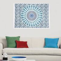 India Hippie Mandala Printed Cotton Poster Wall Hanging Decor Tapestry Throw Bedspread - 30x45 inches