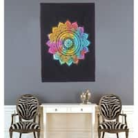 Mandala Hippie Bohemian Multi-Color Printed Cotton Wall Hanging Decor Poster Tapestry - 30x45 inches