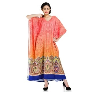 Red Tunic Top Abstract Kaftan Plus Size Caftan Maxi Coverup Summer Long Casual Party Dress Women