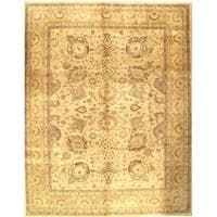 Pasargad NY Handmade Sultanabad Design Beige Wool Rug - 9'2 x 12'