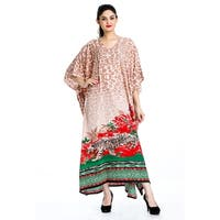 Tunic Top Floral Multi-Color Kaftan Plus Size Caftan Maxi Coverup Summer Long Nightgown Dress Women