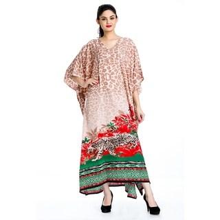 Tunic Top Floral Multi-Color Kaftan Plus Size Caftan Maxi Coverup Summer Long Nightgown Dress Women