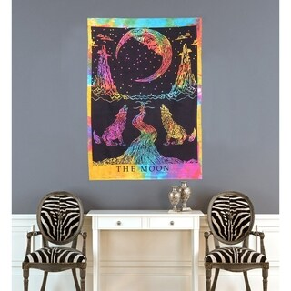 Handmade Cotton Moon Wall Hanging Decor Posters Tapestries Throw Spread - 30x45 inches