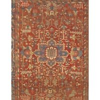 Pasargad NY Antique Persian Heriz Serapi Wool/Cotton Rug - 9'7 x 12'1