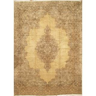 Pasargad NY Handmade Persian Kerman Tan Wool Area Rug