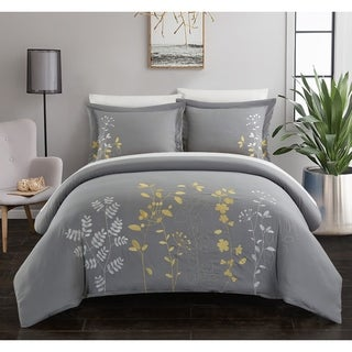 Chic Home Kaylana 3 Piece Duvet Cover Set Zipper Closure
