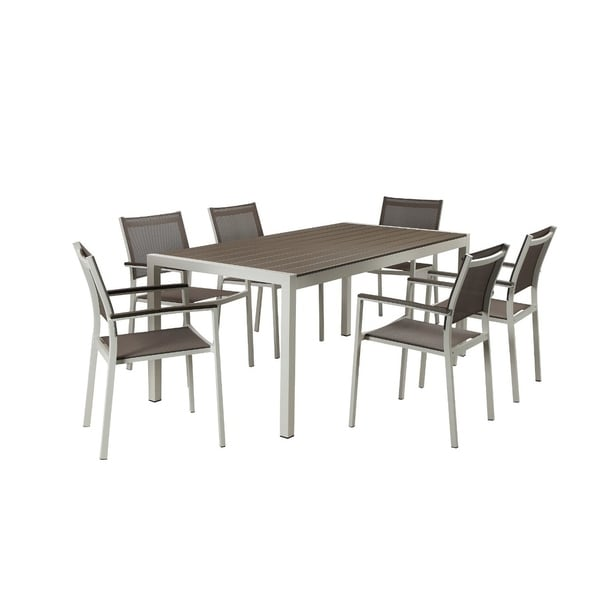 Shop Aluminum 7 Piece Modern Outdoor Dining Set In White