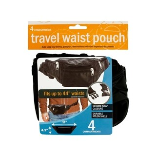 Black Travel Waist Pouch
