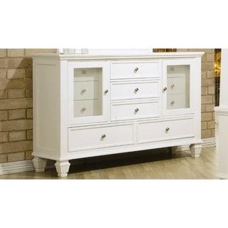 Pre-Eminent Wooden Traditional Dresser, White