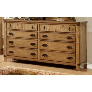 Trendy Cottage Style Wooden Dresser, Weathered Elm Brown