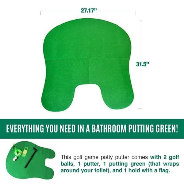 Toilet Golf Etcs Mat Potty Putter