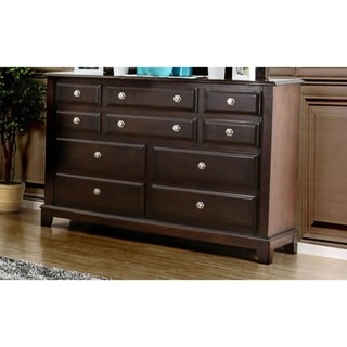 Exemplary Transitional Style Wooden Dresser, Brown Cherry