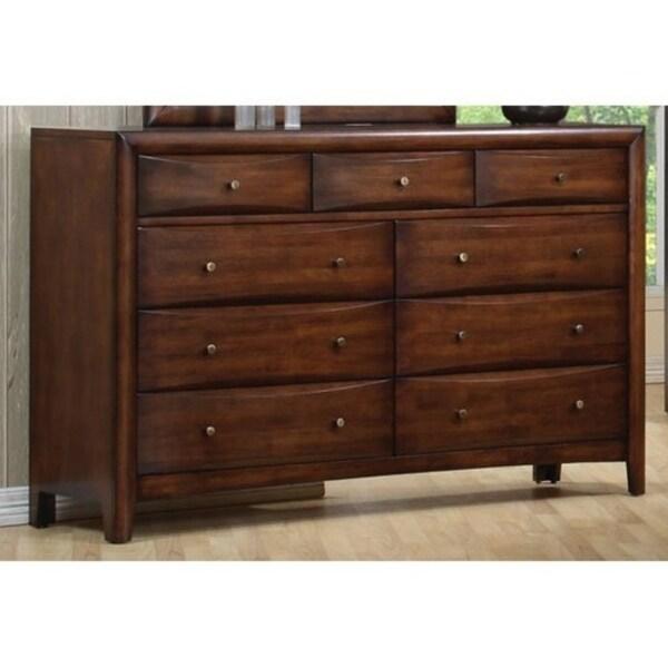 Spacious 9 Drawer Wooden Dresser, Brown 36215633