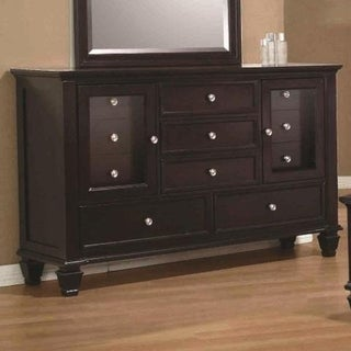 Pre-Eminent Traditional Wooden Dresser, Cappuccino Brown