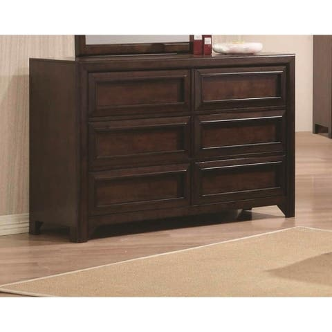 Maple Oak Dresser with Six Drawers