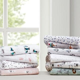 Intelligent Design Cozy Soft Cotton Novelty Print Flannel Sheet Set