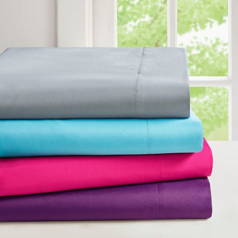 Intelligent Design Microfiber Sheet Set with Side Storage Pockets on the fitted sheet