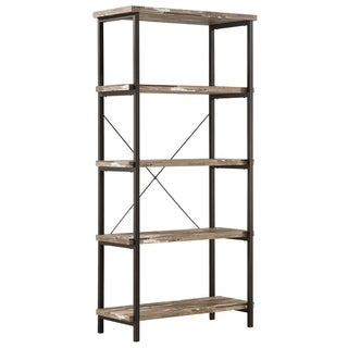 Rustically designed Bookcase With 4 Open Shelves