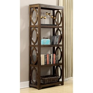 Extremely Eye-catchy Bookcase With 4 Open Shelves, Brown