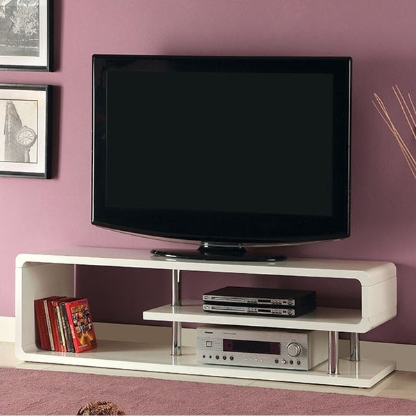 Ninove Ii Contemporary Style Tv Console White