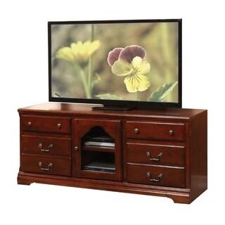 Trendy TV Stand, Cherry Brown