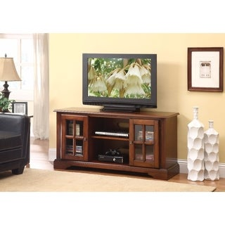 Commodious TV Stand, Cherry Brown
