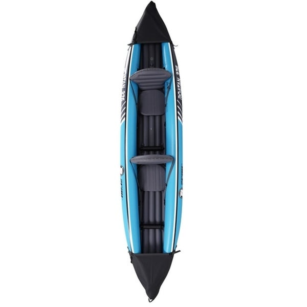 2 PERSONS KAYAK INFLATABLE WITH ALUMINIUM OARS CANOE BOAT FISHING PADDLE INSTOCK