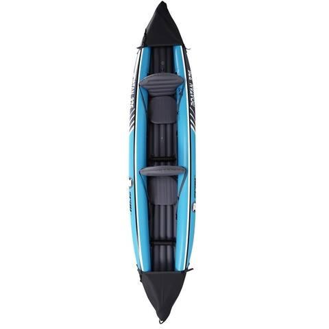 12' Zray Roatan 2-Person Inflatable Kayak Set with Paddle & Foot Pump