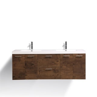 Eviva Luxury 84 inch Rosewood bathroom vanity