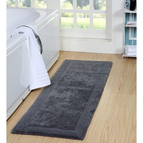 Reversible 100% Long Staple Cotton Yarn Tufted 22*60 Runner Bath Rug, 250 GSF