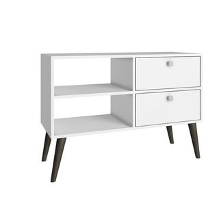 Dalarna TV Stand  with  2 shelves in White