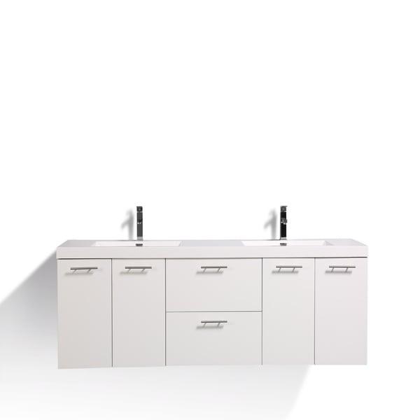 Eviva Luxury 84 inch White bathroom vanity
