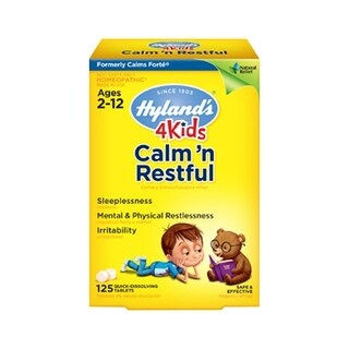 Hyland's Calms and Restful 4 Kids 125 Tablets (Pack of 4)