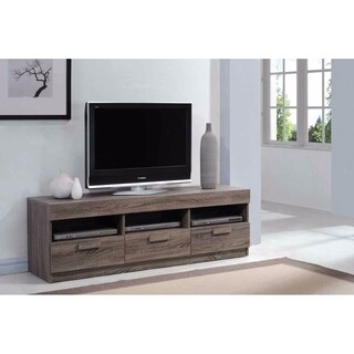 Amiable TV Stand, Rustic Oak Brown