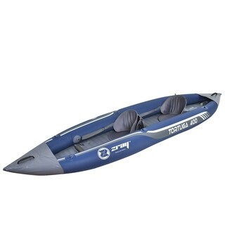 13' Zray Tortuga Two Person Inflatable Kayak with Paddles & Foot Pump