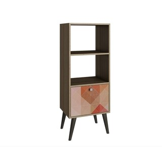 Sami Double Bookcase with 2 shelves in White