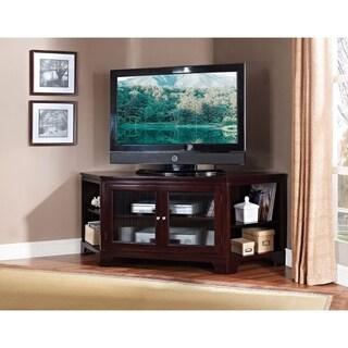 Corner TV Stand, Espresso Brown