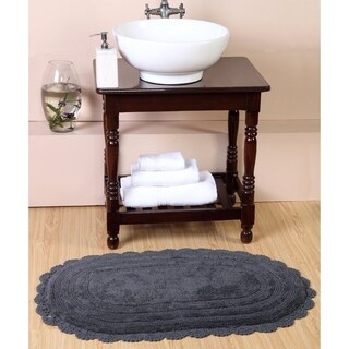 Reversible Premium 100% Long Staple Cotton Yarn Hand Croched, Hand Finished and Tuffted 21*34 Bath Rug
