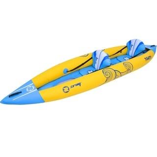 13' Zray Tahiti 2-Person Inflatable Kayak Set with Paddles & Foot Pump